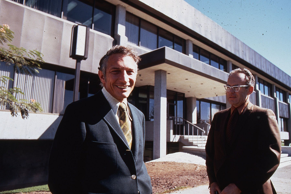 Bob Noyce and Gordon Moore Intel Startup