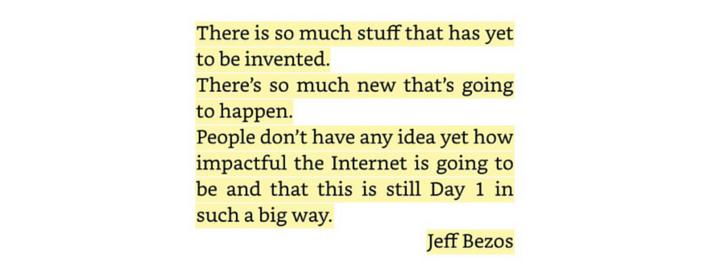Jeff Bezos eCommerce Idee senden