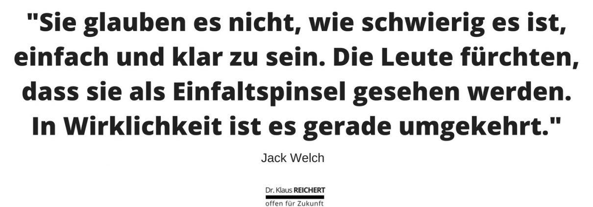 GE CEO Jack Welch zum Thema Einfachheit